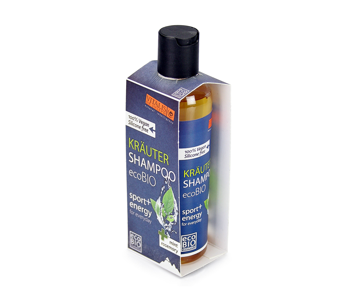 Kräutershampoo mint & rosemary - sport & energy, 200 ml