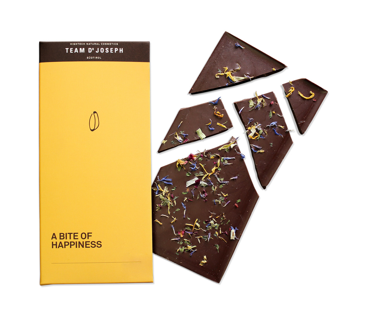 Dark Chocolate 70% A Bite Of Happiness - TEAM DR JOSEPH With Blossoms - 80g